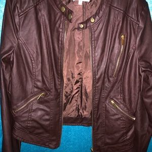 Leather brown jacket❗️